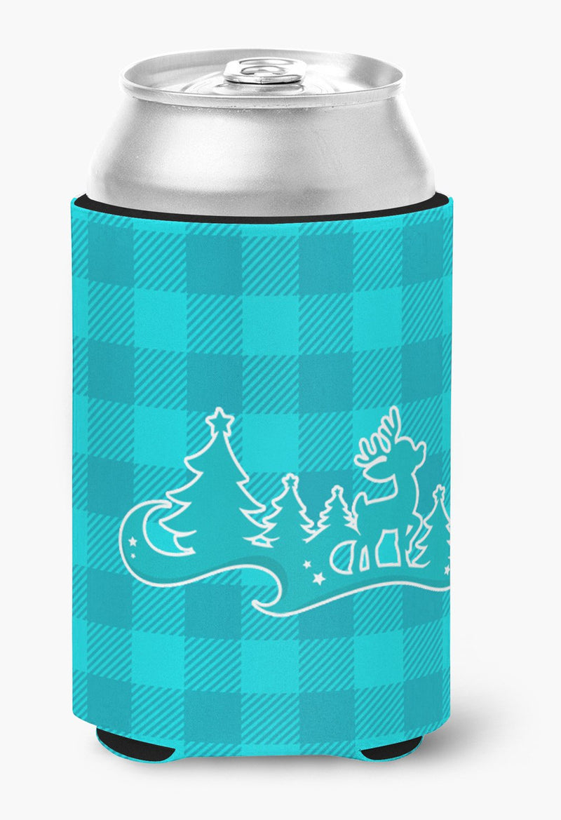 Buy this Christmas Tree Reindeer Blue Can or Bottle Hugger BB6974CC
