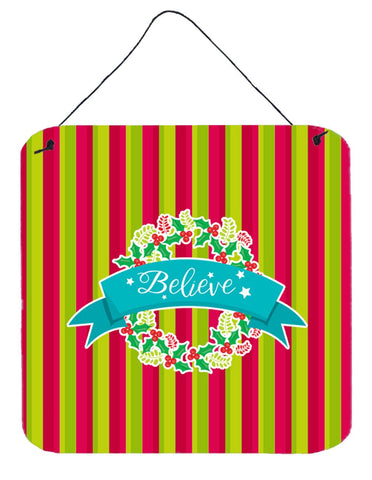Buy this Christmas Wreath Believe Wall or Door Hanging Prints BB6975DS66