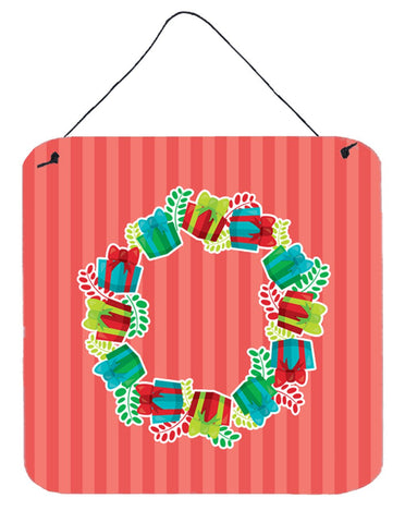 Buy this Christmas Wreath Presents Wall or Door Hanging Prints BB6976DS66