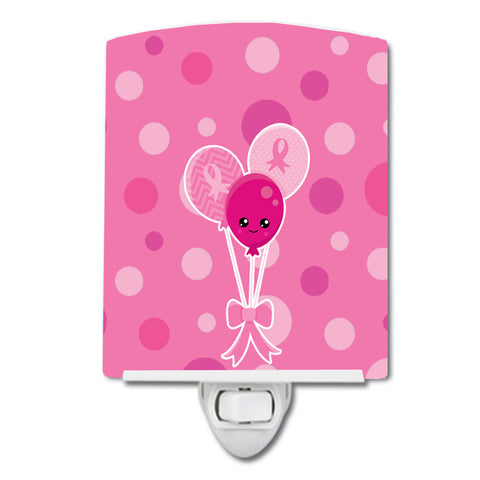 Buy this Breast Cancer Awareness Ribbon Balloons Ceramic Night Light BB6979CNL