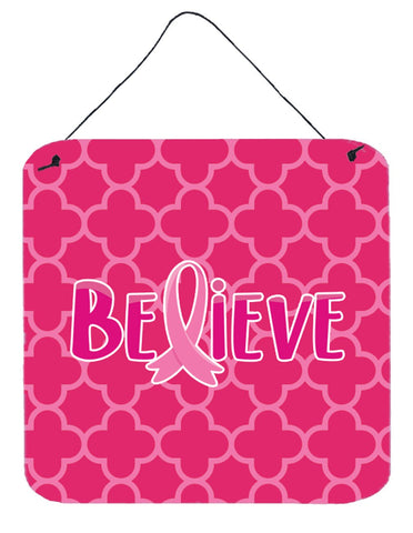 Buy this Breast Cancer Awareness Ribbon Believe Wall or Door Hanging Prints BB6980DS66
