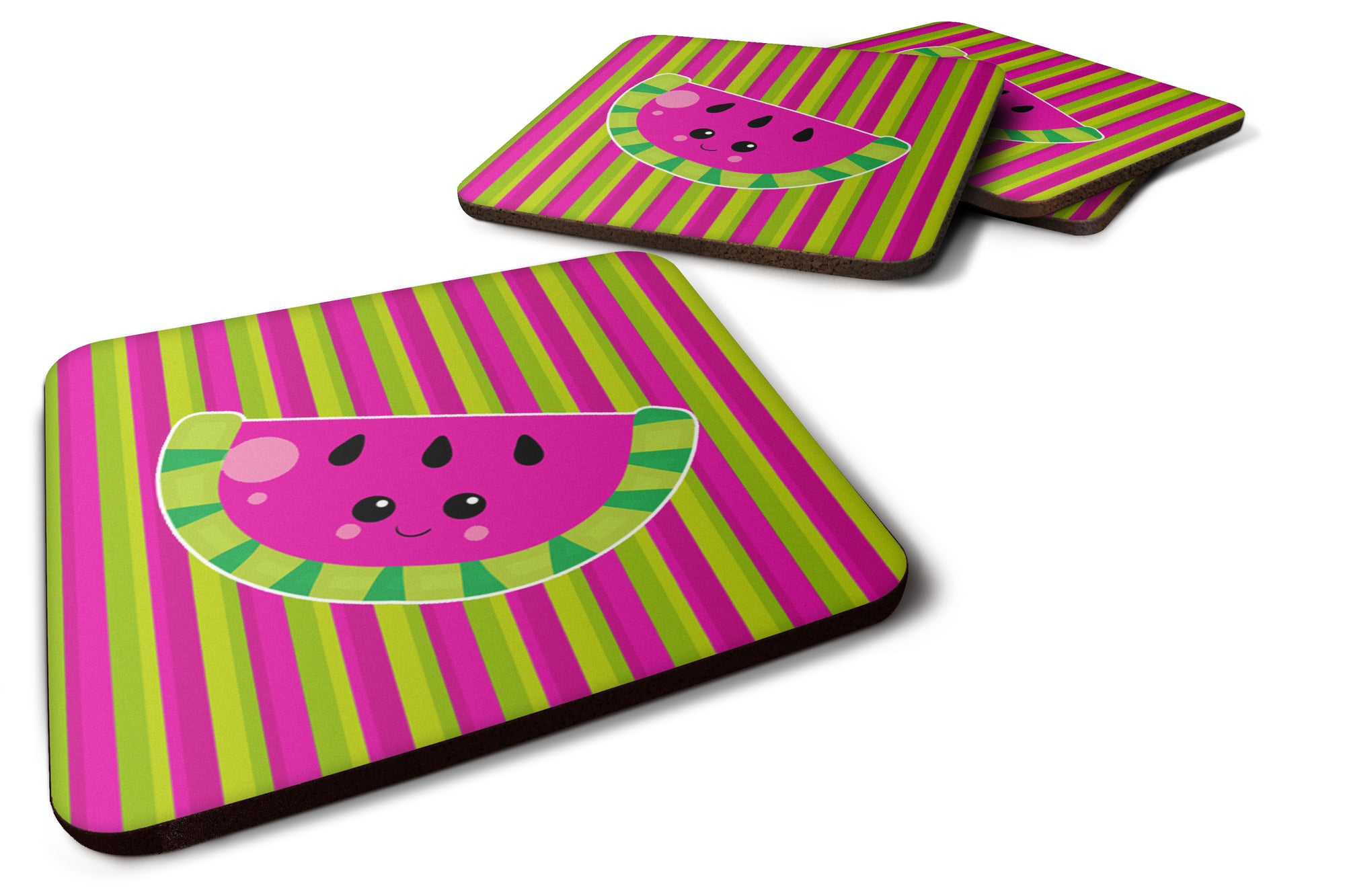 Buy this Watermelon Face Foam Coaster Set of 4 BB6987FC