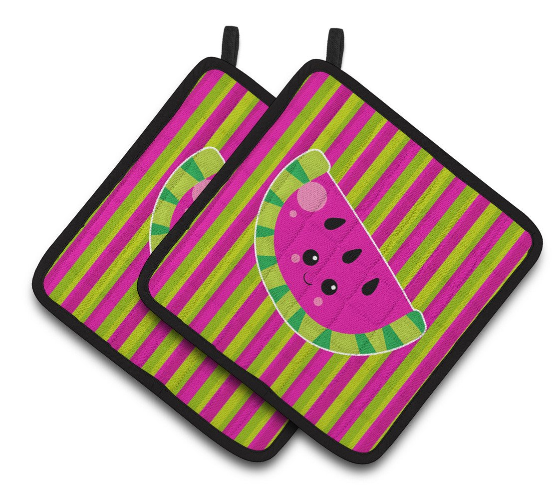 Buy this Watermelon Face Pair of Pot Holders BB6987PTHD