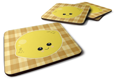 Buy this Lemon Face Foam Coaster Set of 4 BB6990FC