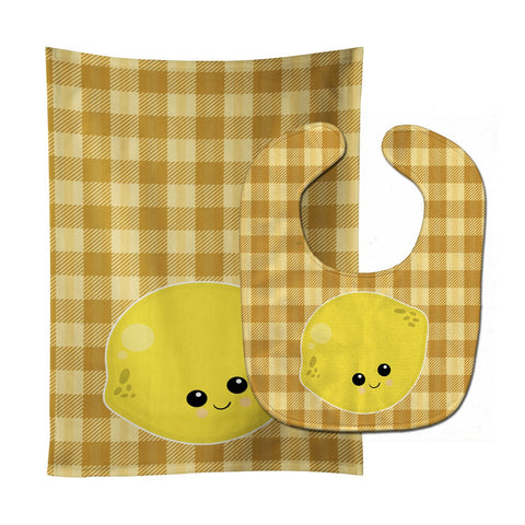 Buy this Lemon Face Baby Bib & Burp Cloth BB6990STBU