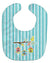 Buy this Birdhouses on Blue Stripes Baby Bib BB7011BIB