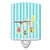 Buy this Birdhouses on Blue Stripes Ceramic Night Light BB7011CNL