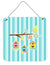 Buy this Birdhouses on Blue Stripes Wall or Door Hanging Prints BB7011DS66