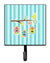 Buy this Birdhouses on Blue Stripes Leash or Key Holder BB7011SH4