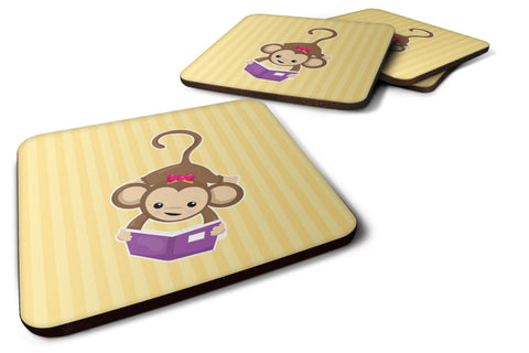 Buy this Monkey Reading Foam Coaster Set of 4 BB7015FC