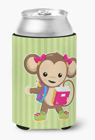 Buy this Monkey Going to School Can or Bottle Hugger BB7016CC