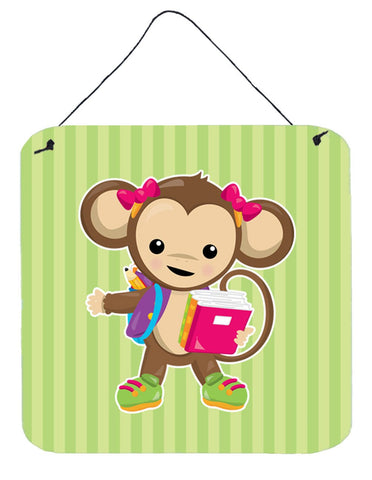 Buy this Monkey Going to School Wall or Door Hanging Prints BB7016DS66