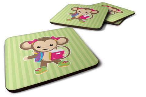 Buy this Monkey Going to School Foam Coaster Set of 4 BB7016FC