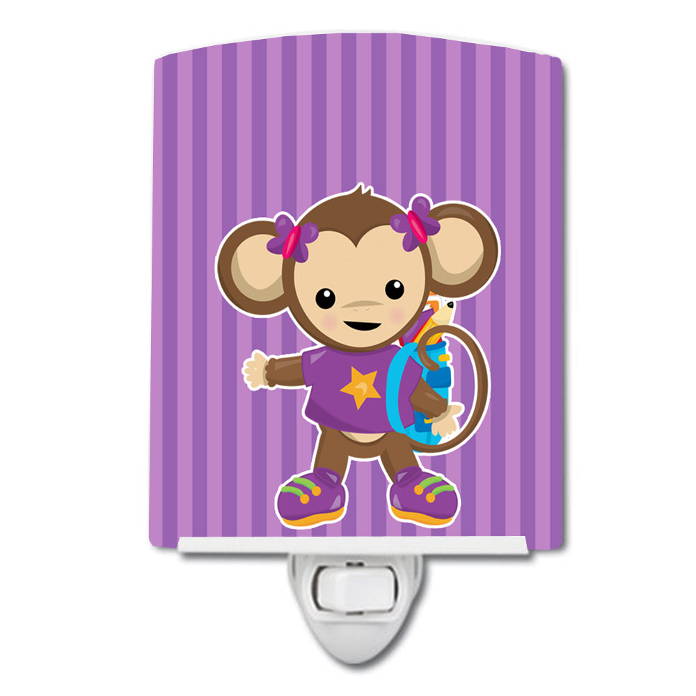 Buy this Monkey with Backpack Ceramic Night Light BB7017CNL