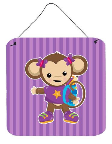 Buy this Monkey with Backpack Wall or Door Hanging Prints BB7017DS66