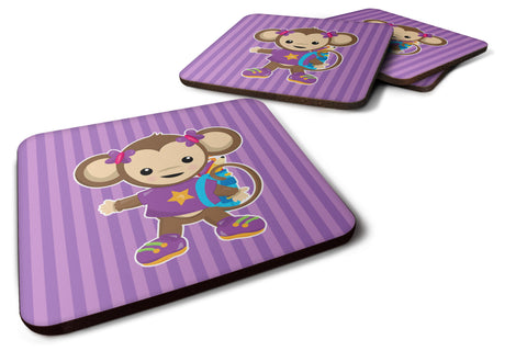 Buy this Monkey with Backpack Foam Coaster Set of 4 BB7017FC