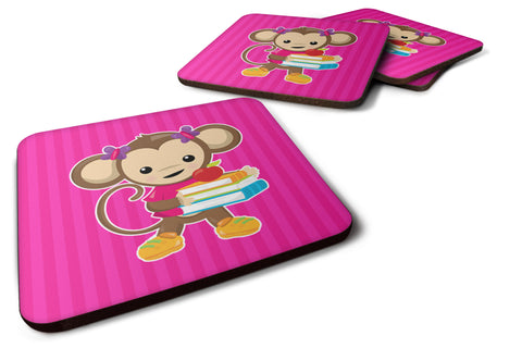 Buy this Monkey and School books Foam Coaster Set of 4 BB7018FC