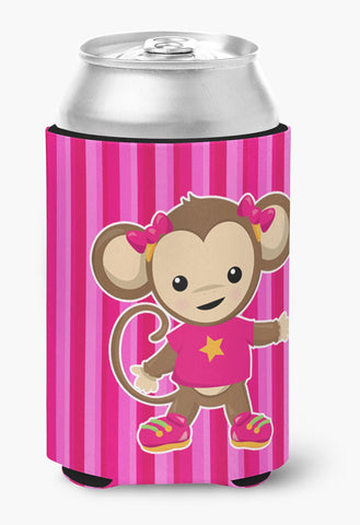 Buy this Monkey on Pink Stripes Can or Bottle Hugger BB7020CC