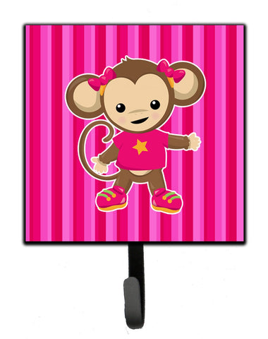 Buy this Monkey on Pink Stripes Leash or Key Holder BB7020SH4