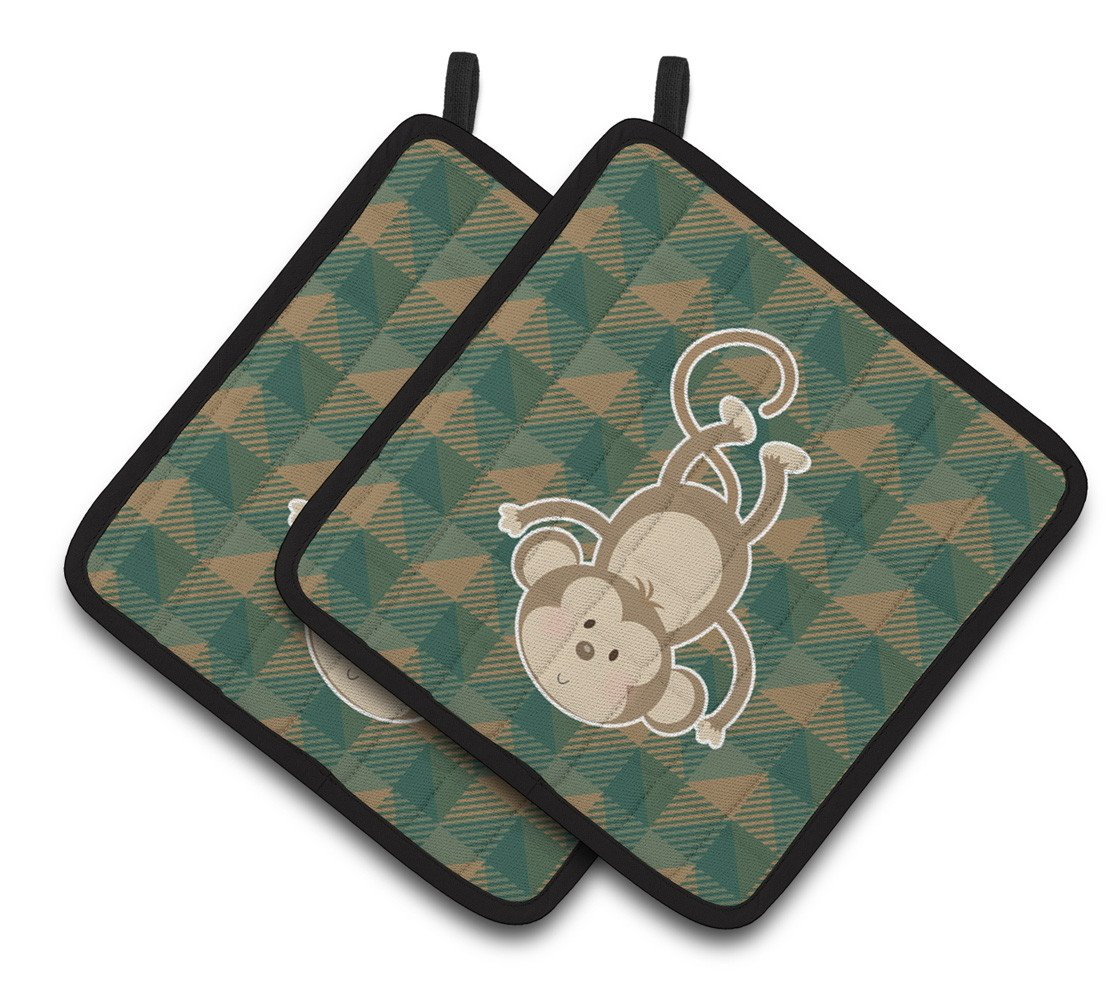 Monkey Pair of Pot Holders BB7023PTHD by Caroline's Treasures