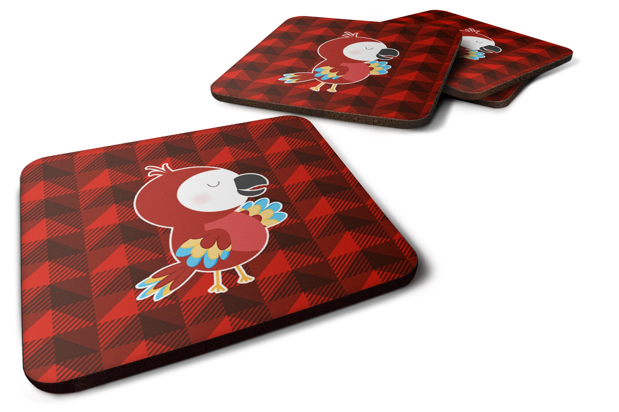 Buy this Parrot Foam Coaster Set of 4 BB7024FC