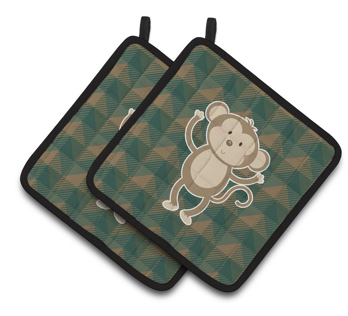 Monkey Pair of Pot Holders BB7025PTHD by Caroline's Treasures