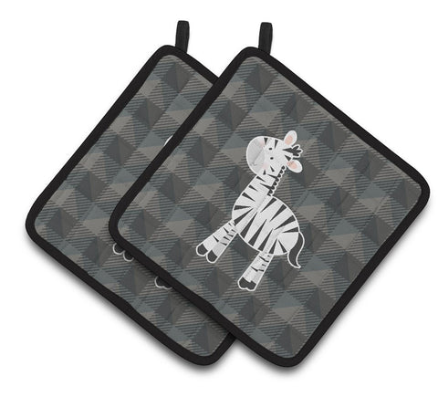 Buy this Zebra Pair of Pot Holders BB7026PTHD