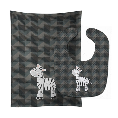 Buy this Zebra Baby Bib & Burp Cloth BB7026STBU