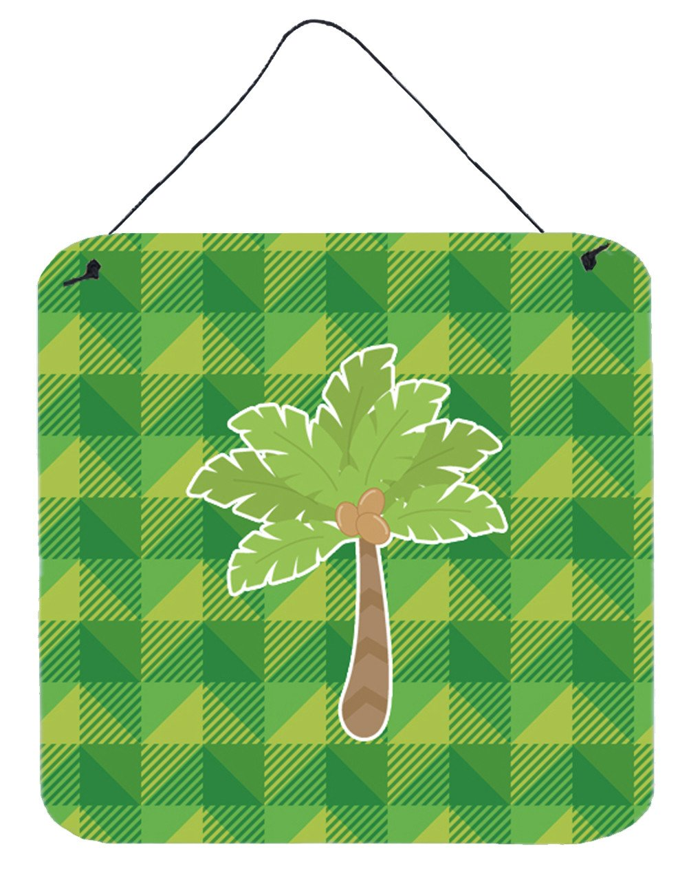 Palm Tree Wall or Door Hanging Prints BB7027DS66 by Caroline's Treasures
