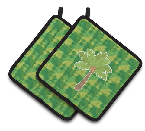 Buy this Palm Tree Pair of Pot Holders BB7027PTHD