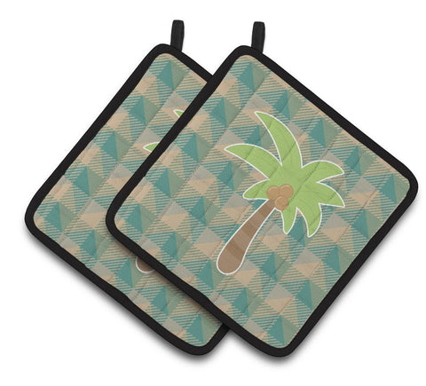 Buy this Palm Tree Pair of Pot Holders BB7028PTHD
