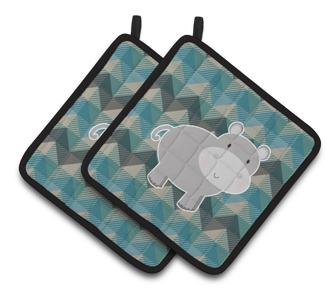 Buy this Hippopotamus Pair of Pot Holders BB7031PTHD