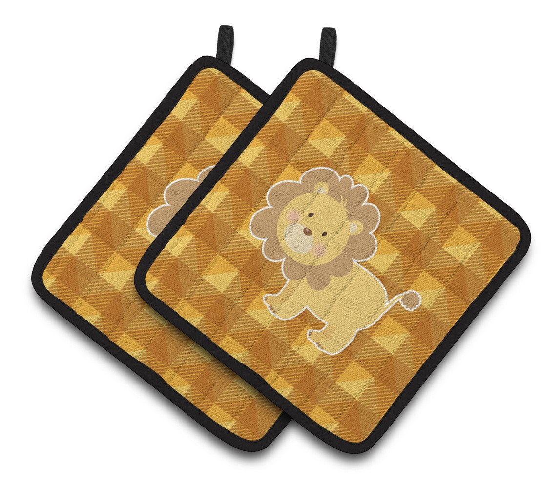 Lion Pair of Pot Holders BB7032PTHD by Caroline's Treasures