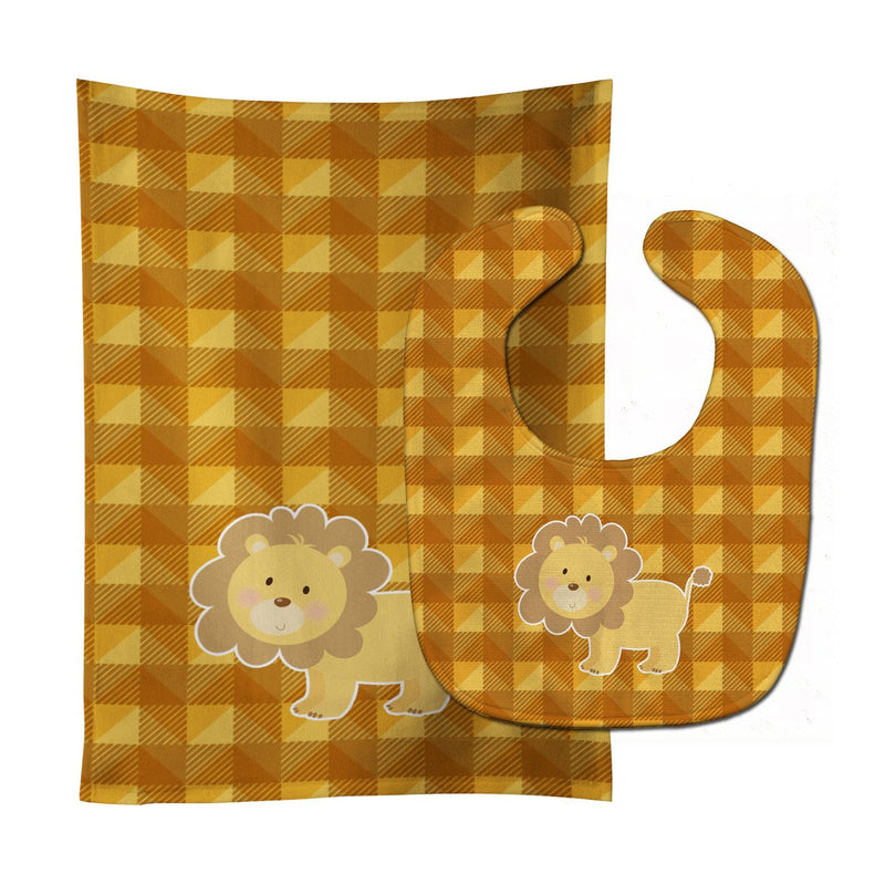 Buy this Lion Baby Bib & Burp Cloth BB7032STBU