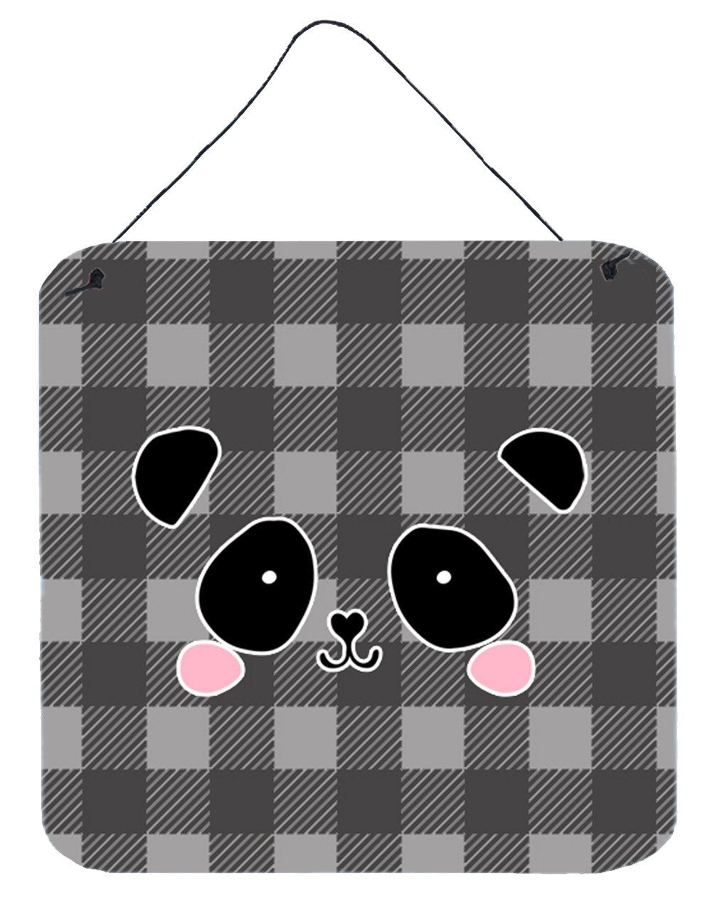 Panda Bear Face Wall or Door Hanging Prints BB7036DS66 by Caroline's Treasures