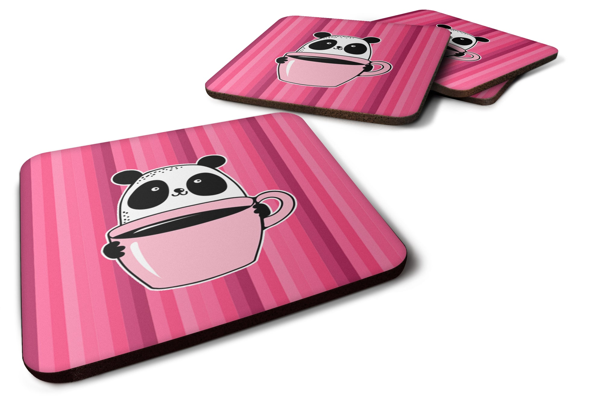 Panda Bear Coffee Foam Coaster Set of 4 BB7038FC by Caroline's Treasures