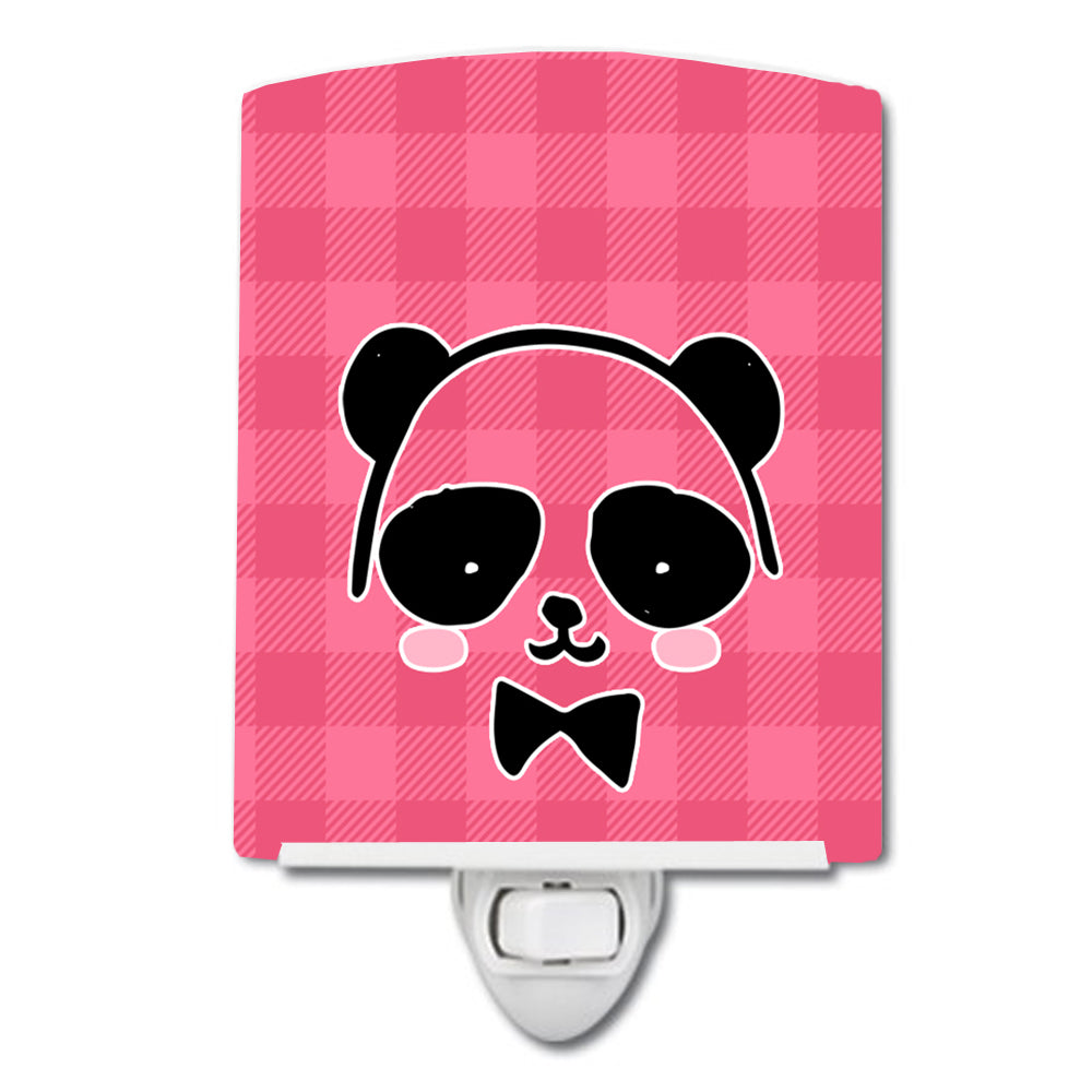 Buy this Panda Bear Pink Face Ceramic Night Light BB7039CNL