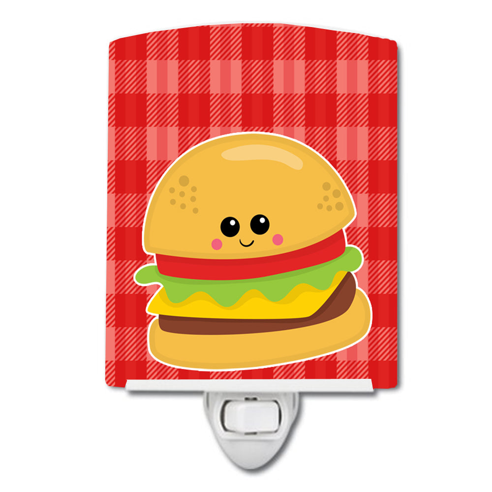 Hamburger Face Ceramic Night Light BB7042CNL by Caroline's Treasures