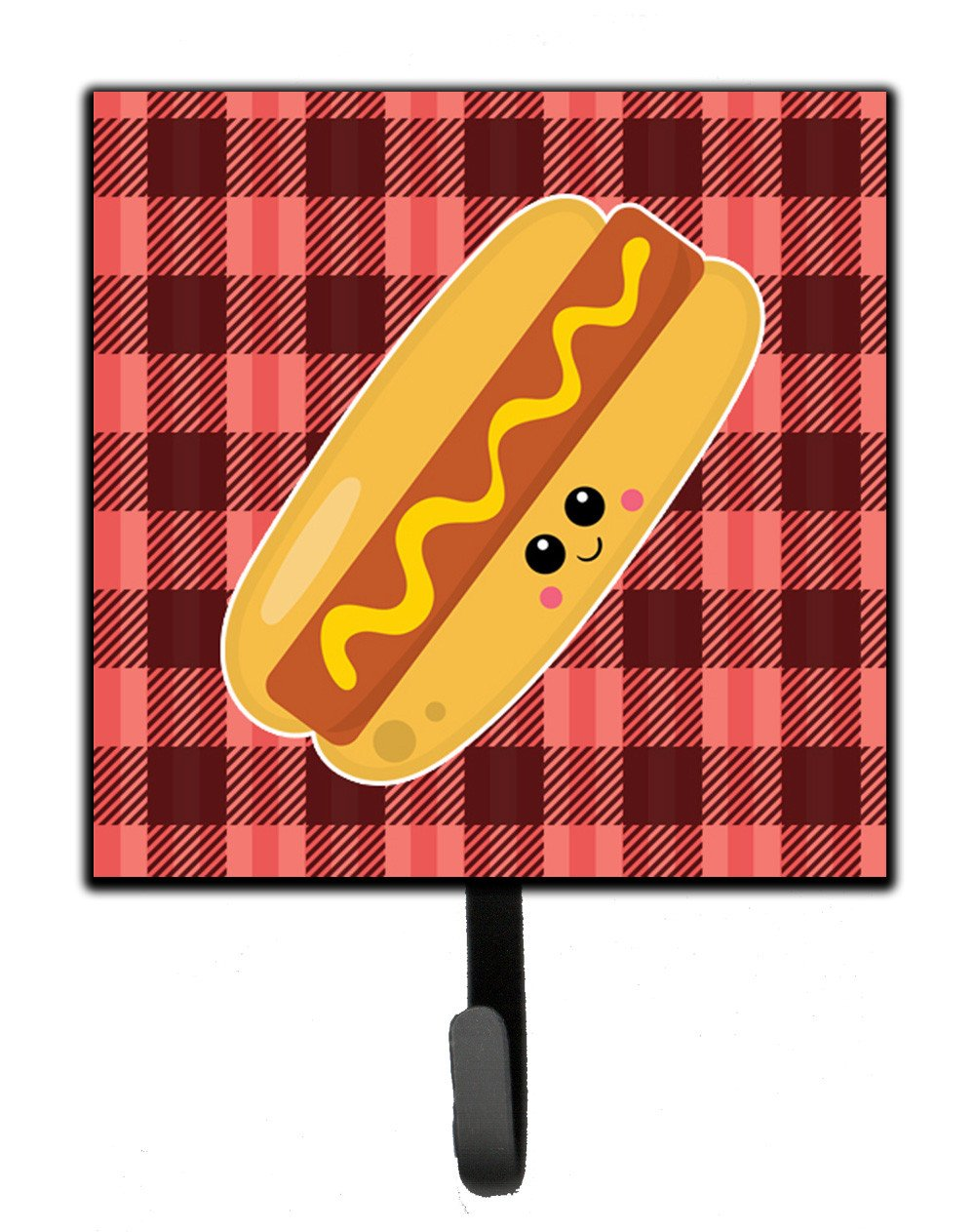Hot Dog Face Leash or Key Holder BB7045SH4 by Caroline's Treasures