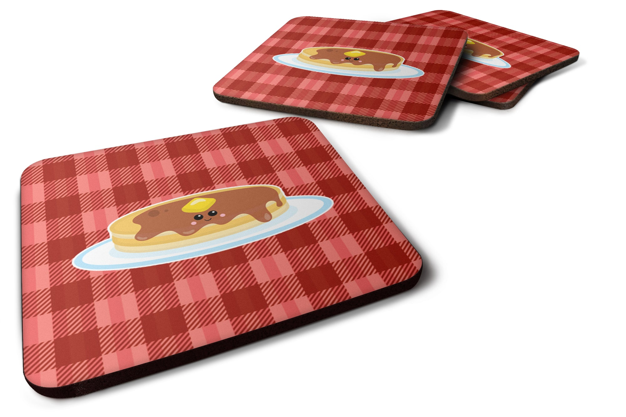 Pancake Face Foam Coaster Set of 4 BB7049FC by Caroline's Treasures