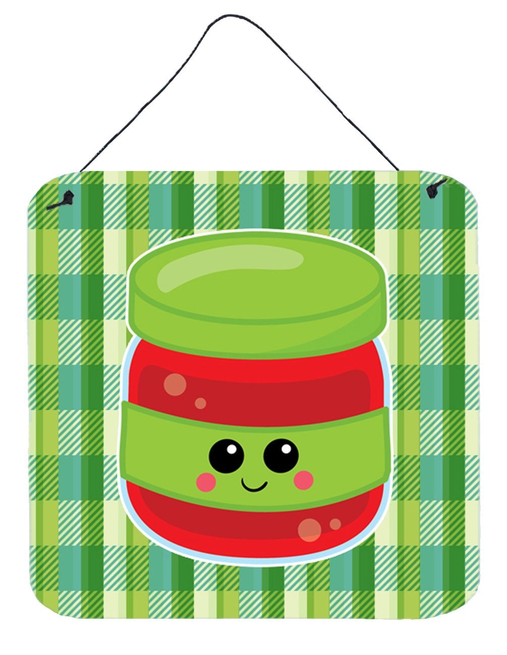 Jelly Jar Face Wall or Door Hanging Prints BB7051DS66 by Caroline's Treasures