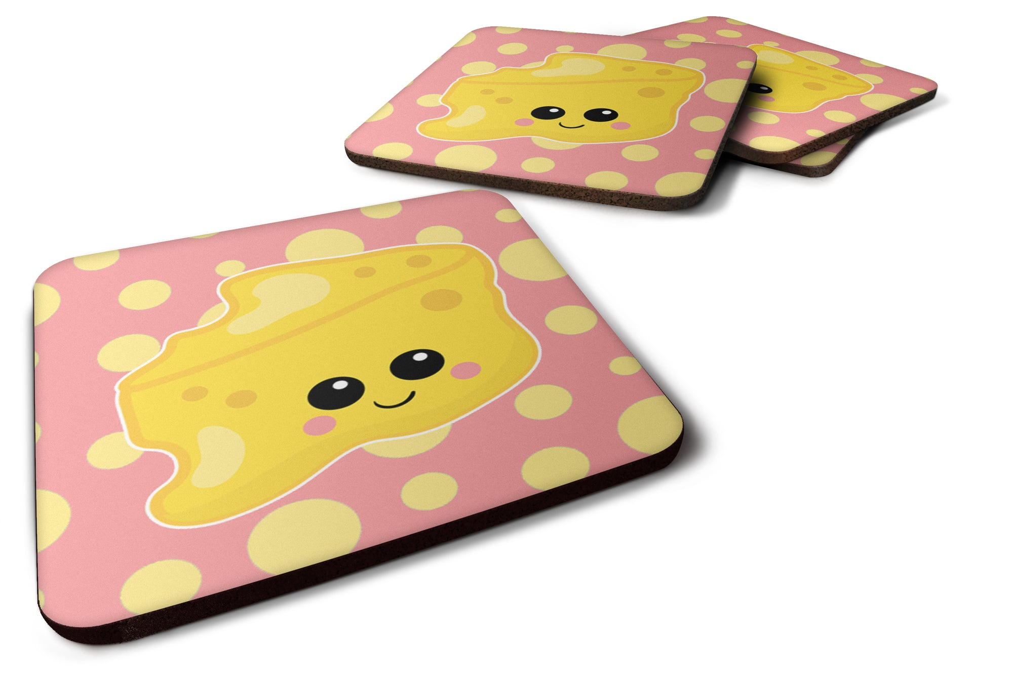 Buy this Cheese Head  Face Foam Coaster Set of 4 BB7052FC