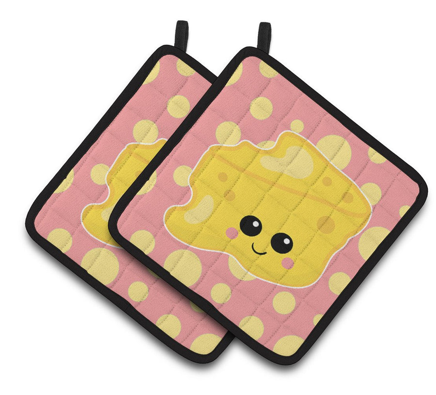 Buy this Cheese Head  Face Pair of Pot Holders BB7052PTHD
