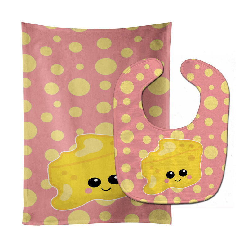 Buy this Cheese Head  Face Baby Bib & Burp Cloth BB7052STBU