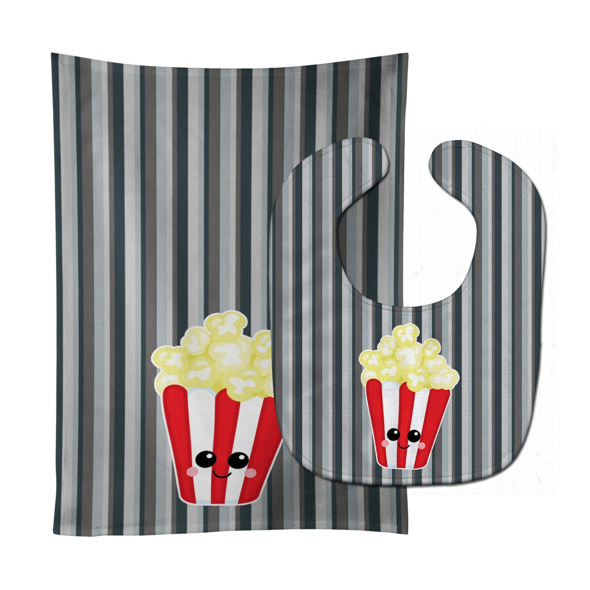 Buy this Popcorn Face Baby Bib & Burp Cloth BB7053STBU
