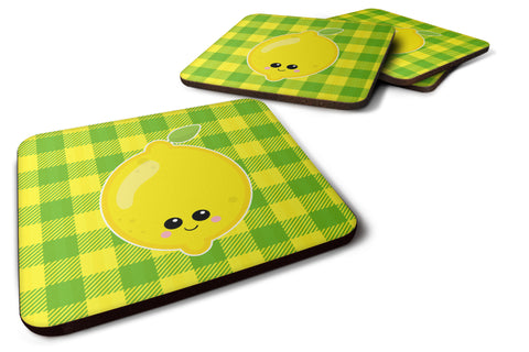 Buy this Lemon Face Foam Coaster Set of 4 BB7055FC