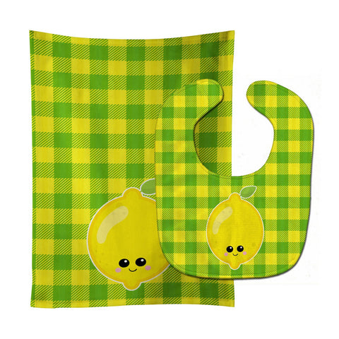 Buy this Lemon Face Baby Bib & Burp Cloth BB7055STBU