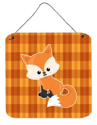 Buy this Baby Fox Gingham Wall or Door Hanging Prints BB7087DS66