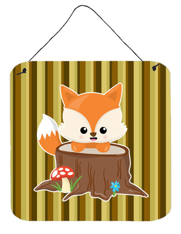Buy this Baby Fox Tree Stripes Wall or Door Hanging Prints BB7088DS66