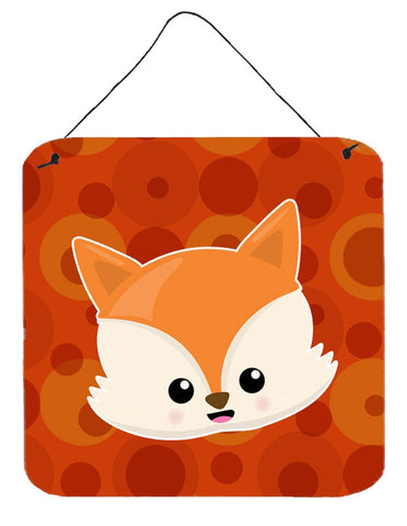 Buy this Baby Fox Face Polkadots Wall or Door Hanging Prints BB7089DS66